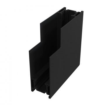 L-образный внутренний соединитель для магнитного шинопровода Maytoni TRA004ICL-21B, черный, металл