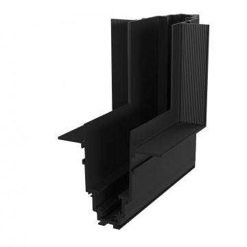 L-образный внутренний соединитель для встраиваемого магнитного шинопровода Maytoni TRA004ICL-22B, черный, металл