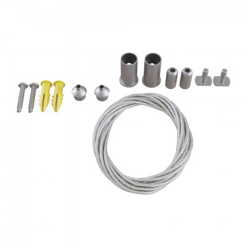 Набор для подвесного монтажа магнитной системы Maytoni TRA004SW-21S, серебро, металл