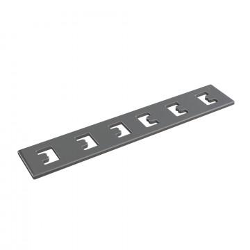 Прямой соединитель для магнитного шинопровода Maytoni TRA004C-22S, серебро, металл