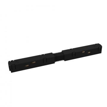 Прямой соединитель для магнитного шинопровода Maytoni TRA004PC-22B, черный, пластик