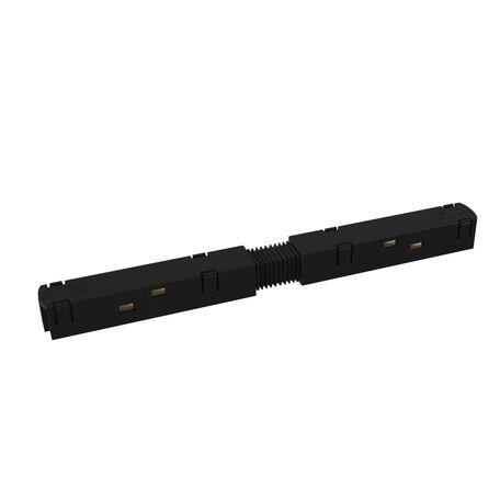 Прямой соединитель питания для треков Maytoni Magnetic track system TRA004PC-22B, черный, пластик