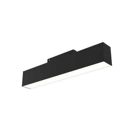 Светодиодный светильник для магнитной системы Maytoni Busbar trunkings TR012-2-12W4K-B, LED 12W 4000K 750lm CRI90, черный, металл, металл с пластиком