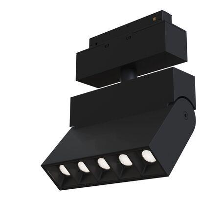 Светодиодный светильник с регулировкой направления света для магнитной системы Maytoni Technical Magnetic Track System Point TR015-2-10W4K-B, LED 11W 4000K 800lm CRI90, черный, металл