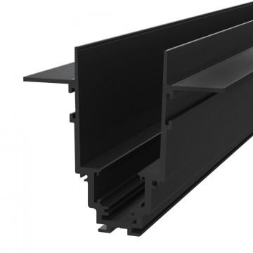 Встраиваемый магнитный шинопровод Maytoni Busbar trunkings TRX004-222B, черный, металл