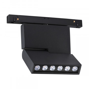 Светодиодный светильник с регулировкой направления света для шинной системы Novotech Shino Flum 358467, LED 12W 4000K 960lm, черный, металл