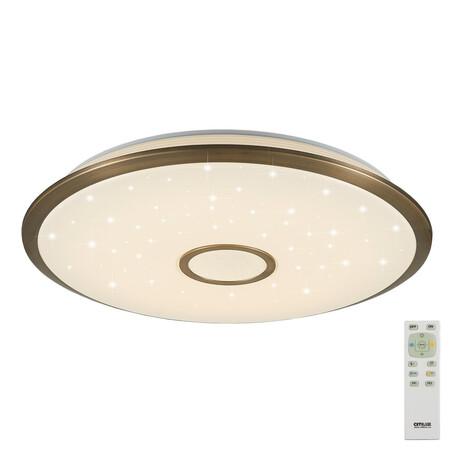 Потолочный светодиодный светильник с пультом ДУ Citilux Старлайт CL703103R, IP44, LED 100W, 3000-4500K, белый, бронза, металл, пластик