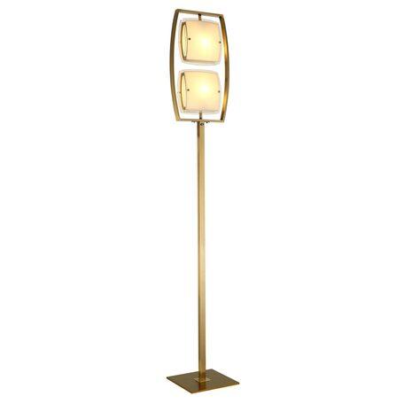 Торшер Citilux Берген CL161923, 2xE27x75W, бронза, белый, металл, стекло
