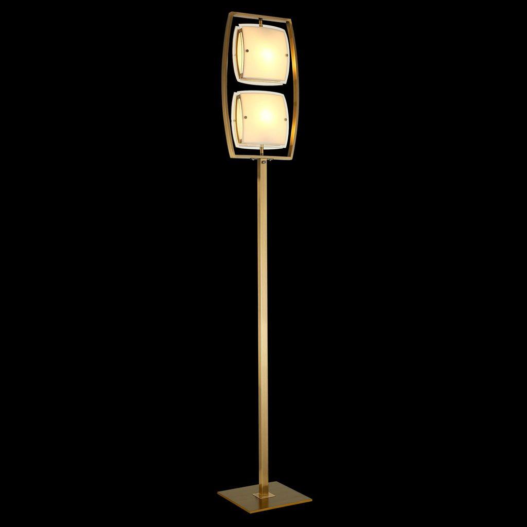 Торшер Citilux Берген CL161923, 2xE27x75W, бронза, белый, металл, стекло - фото 2