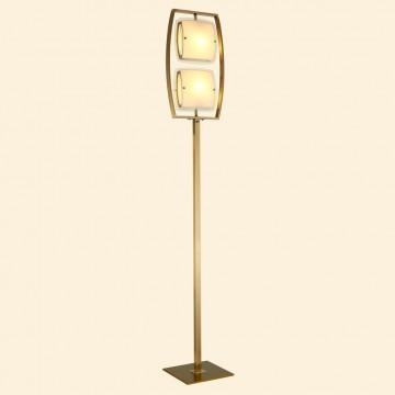 Торшер Citilux Берген CL161923, 2xE27x75W, бронза, белый, металл, стекло - миниатюра 3