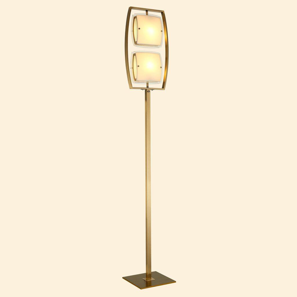Торшер Citilux Берген CL161923, 2xE27x75W, бронза, белый, металл, стекло - фото 3