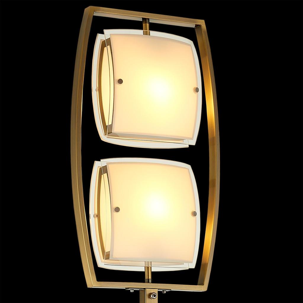 Торшер Citilux Берген CL161923, 2xE27x75W, бронза, белый, металл, стекло - фото 4