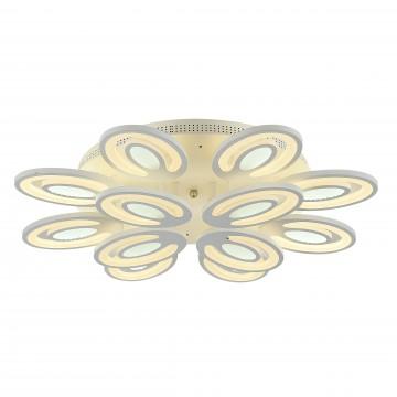 Потолочная светодиодная люстра с пультом ДУ Favourite F-Promo Balchik 2293-12U, LED 160W 3000-6400K, белый, металл, пластик