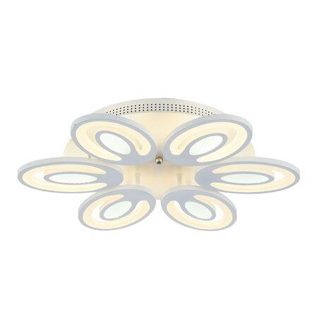 Потолочная светодиодная люстра с пультом ДУ Favourite F-Promo Balchik 2293-6U, LED 90W 3000-6400K, белый, металл, пластик