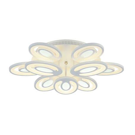 Потолочная светодиодная люстра с пультом ДУ Favourite F-Promo Balchik 2293-9U, LED 130W 3000-6400K, белый, металл, пластик