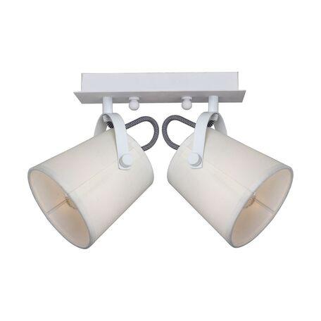 Потолочный светильник с регулировкой направления света Favourite F-Promo Munich 2176-2U, 2xE14x40W, белый, бежевый, металл, текстиль