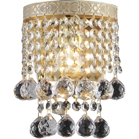 Бра Toplight Vivien TL7230B-01WG, 1xE14x40W, золото, прозрачный, металл, стекло