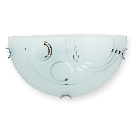 Бра Toplight Margaret TL9000Y-01WH, 1xE27x60W, хром, белый, металл, стекло