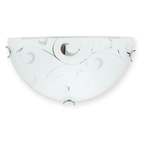 Бра Toplight Kelly TL9040Y-01WH, 1xE27x60W, хром, белый, металл, стекло