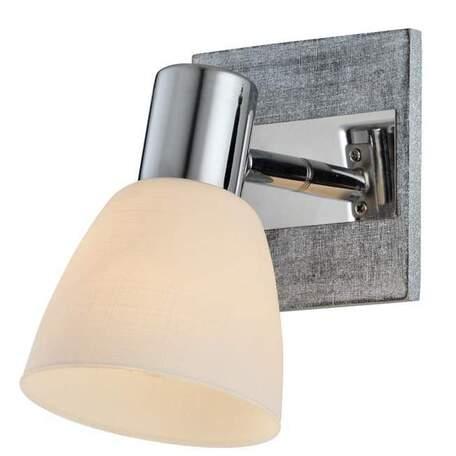 Бра с регулировкой направления света Toplight Sabina TL3700Y-01GR, 1xE14x40W, серый с хромом, белый, металл, стекло