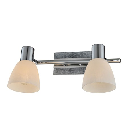 Бра с регулировкой направления света Toplight Sabina TL3700Y-02GR, 2xE14x40W, серый с хромом, белый, металл, стекло