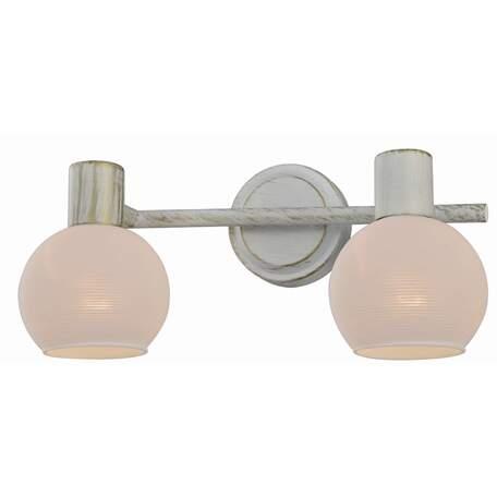 Бра с регулировкой направления света Toplight Selena TL3710Y-02WG, 2xE14x40W, белый с золотой патиной, белый, металл, стекло