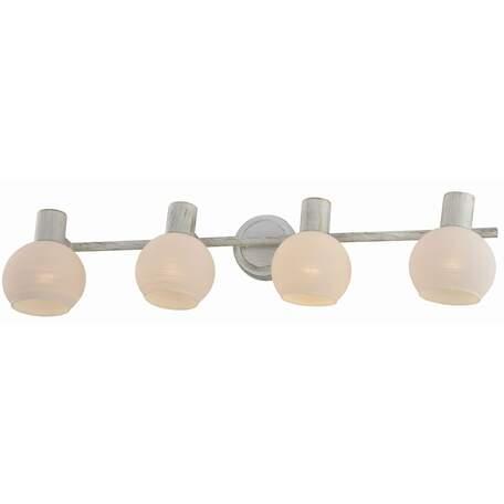 Бра с регулировкой направления света Toplight Selena TL3710Y-04WG, 4xE14x40W, белый с золотой патиной, белый, металл, стекло