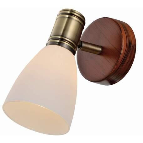 Бра с регулировкой направления света Toplight Sharyl TL3720Y-01BB, 1xE14x40W, коричневый с бронзой, белый, металл, стекло