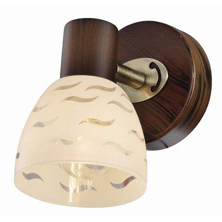 Бра с регулировкой направления света Toplight Shayla TL3730Y-01BB, 1xE14x40W, коричневый с бронзой, белый, металл, стекло