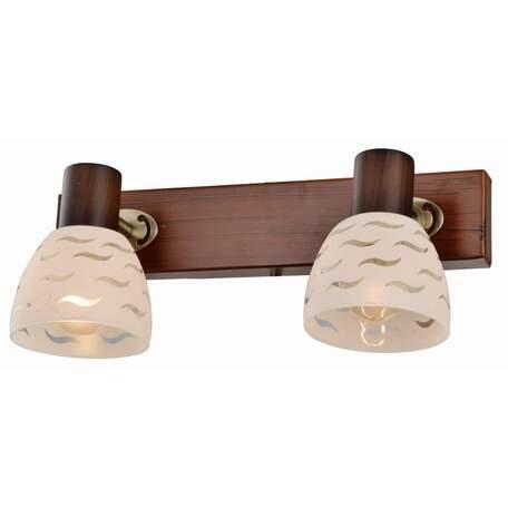 Бра с регулировкой направления света Toplight Shayla TL3730Y-02BB, 2xE14x40W, коричневый с бронзой, белый, металл, стекло