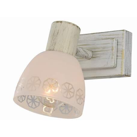 Бра с регулировкой направления света Toplight Shona TL3740Y-01WG, 1xE14x40W, белый с золотой патиной, белый, металл, стекло