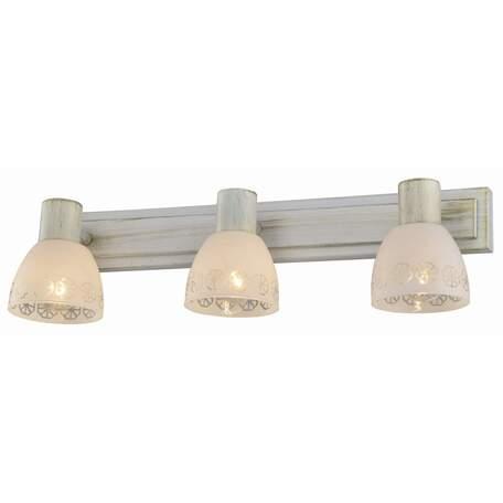 Бра с регулировкой направления света Toplight Shona TL3740Y-03WG, 3xE14x40W, белый с золотой патиной, белый, металл, стекло