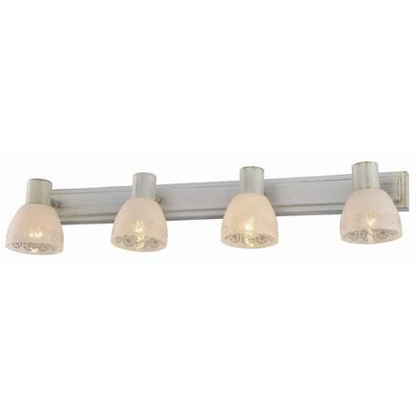 Бра с регулировкой направления света Toplight Shona TL3740Y-04WG, 4xE14x40W, белый с золотой патиной, белый, металл, стекло
