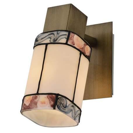 Бра с регулировкой направления света Toplight Sylvia TL3770Y-01AB, 1xE14x40W, бронза, разноцветный, металл, стекло