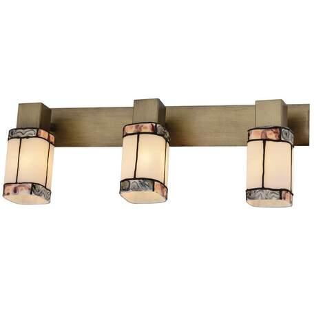 Бра с регулировкой направления света Toplight Sylvia TL3770Y-03AB, 3xE14x40W, бронза, разноцветный, металл, стекло