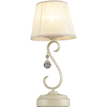 Настольная лампа Toplight Teresa TL7270T-01RY, 1xE14x40W, бежевый, белый, прозрачный, металл, текстиль, стекло