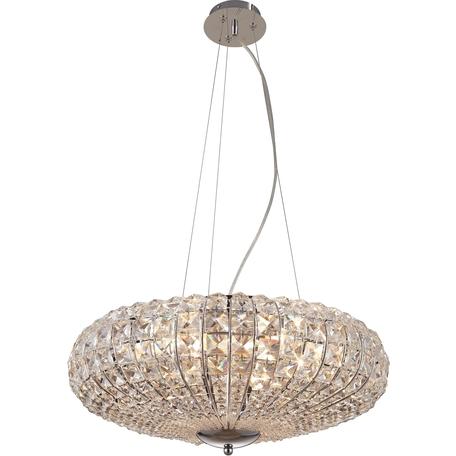 Подвесная люстра Toplight Ursula TL7250D-06CH, 6xE14x40W, хром, прозрачный, металл, стекло