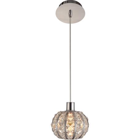 Подвесная люстра Toplight Vera TL7260D-01CH, 1xE14x40W, хром, прозрачный, металл, стекло