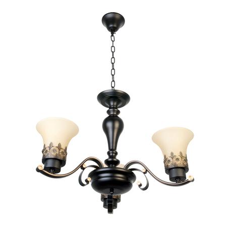 Подвесная люстра Toplight Florence TL7490D-03BL, 3xE27x40W, коричневый, белый, металл, стекло