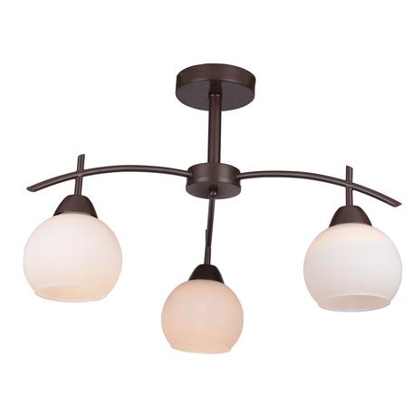 Потолочная люстра Toplight Molly TL3770X-03DB, 3xE27x40W, коричневый, белый, металл, стекло