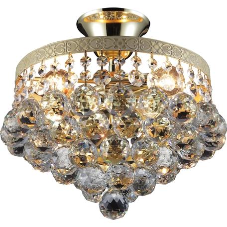 Потолочная люстра Toplight Vivien TL7230X-04WG, 4xE14x40W, золото, прозрачный, металл, стекло