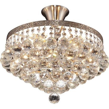 Потолочная люстра Toplight Vivien TL7230X-05SN, 5xE14x40W, никель, прозрачный, металл, стекло