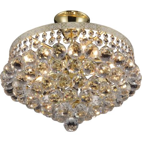 Потолочная люстра Toplight Vivien TL7230X-05WG, 5xE14x40W, золото, прозрачный, металл, стекло