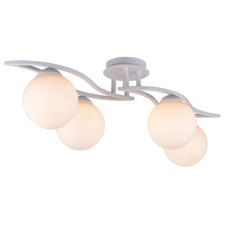Потолочная люстра Toplight Malinda TL7320X-04WH, 4xE27x60W, белый, металл, стекло