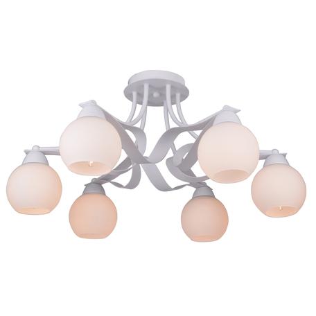 Потолочная люстра Toplight Mable TL7330X-06WH, 6xE27x60W, белый, металл, стекло