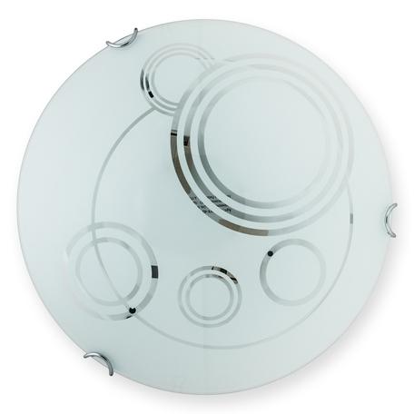 Потолочный светильник Toplight Margaret TL9001Y-02WH, 2xE27x60W, хром, белый, металл, стекло
