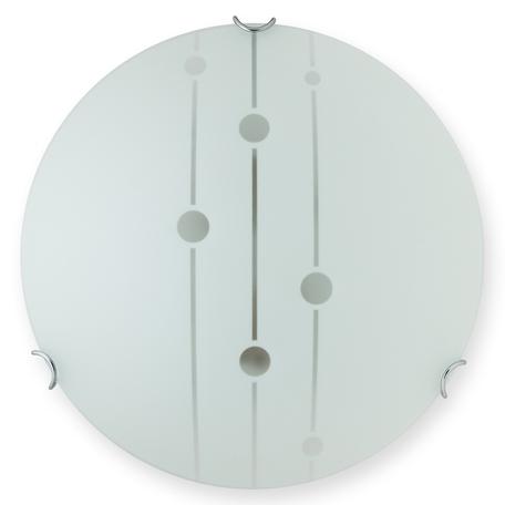 Потолочный светильник Toplight Madison TL9031Y-02WH, 2xE27x60W, хром, белый, металл, стекло