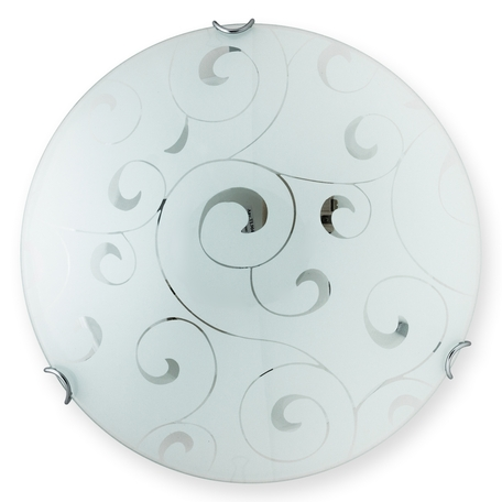 Потолочный светильник Toplight Kelly TL9042Y-03WH, 3xE27x60W, хром, белый, металл, стекло