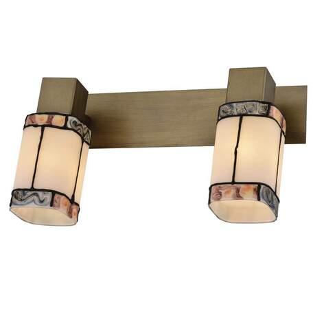 Бра с регулировкой направления света Toplight Sylvia TL3770Y-02AB, 2xE14x40W, бронза, разноцветный, металл, стекло