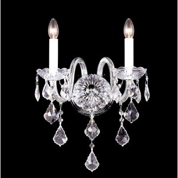 Бра Crystal Lux QUEEN AP2 2770/402, 2xE14x40W, прозрачный, хром, металл, стекло, хрусталь